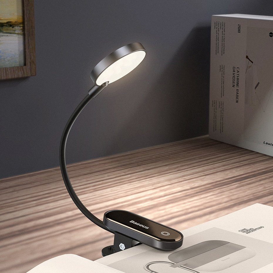 Настольная лампа Baseus Comfort Reading Mini Clip Lamp (DGRAD-0G)