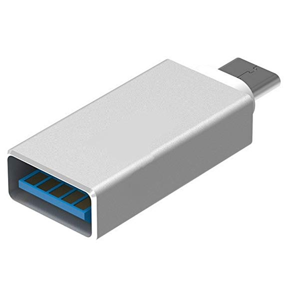 Адаптер Type-C - USB OTG Remax серебристый