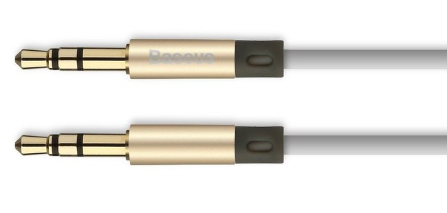 Кабель аудио Baseus Fluency Series AUX Audio Cable 120см золотой