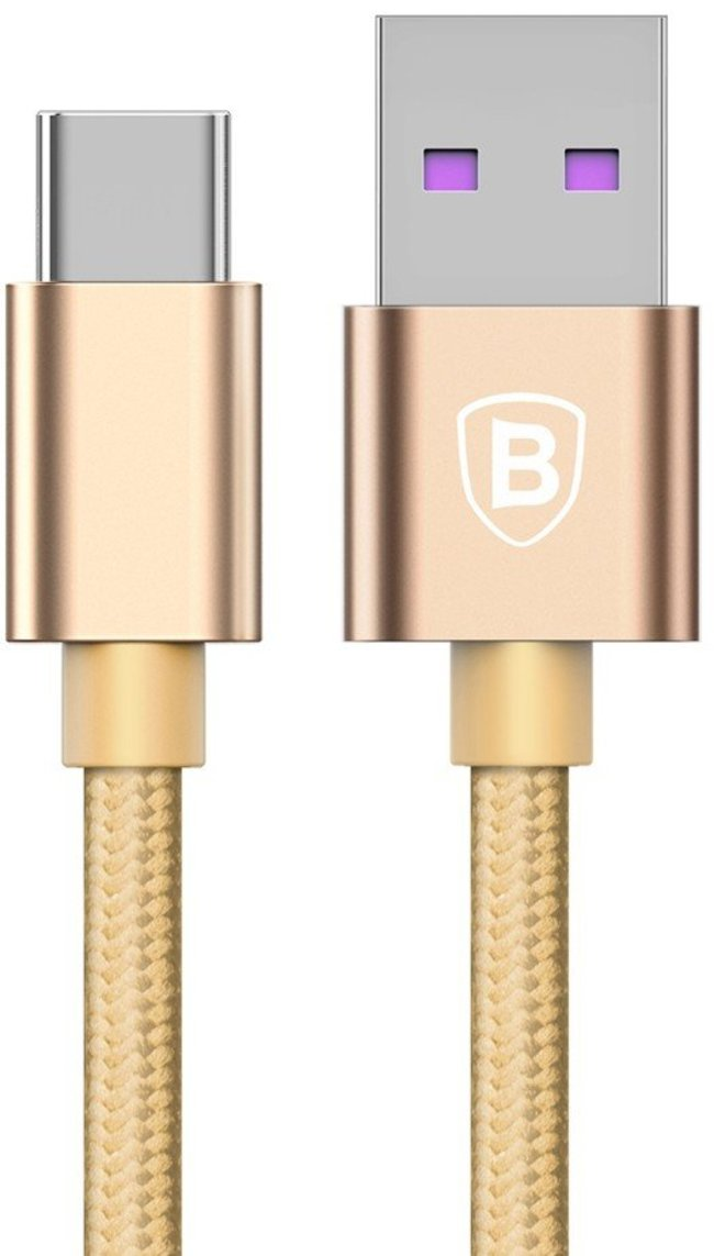 Кабель Baseus Speed Type-C QC Cable Type-C золотой