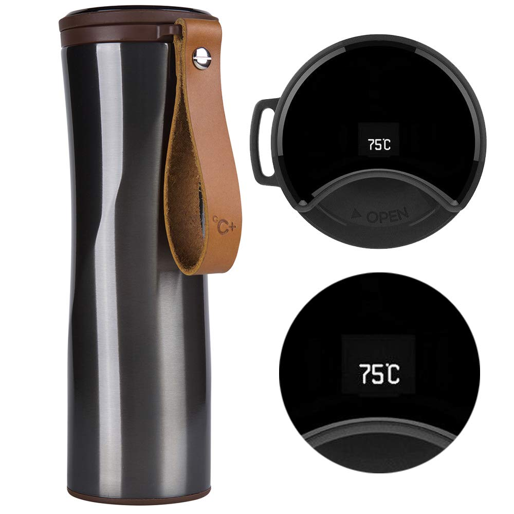 Термос Kiss Kiss Fish 430ML Smart Vacuum Mug OLED Temperature Display серый