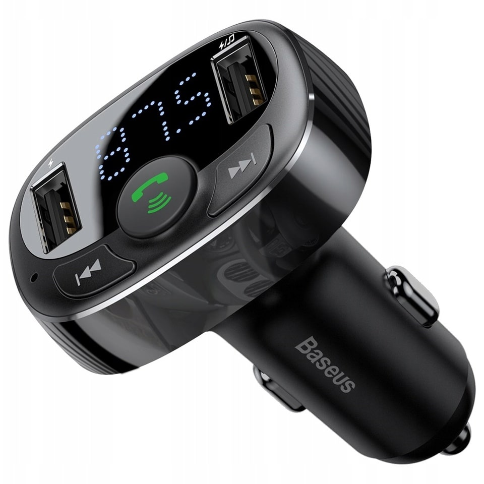 FM-трансмиттер Baseus T-Typed MP3 Car Charger S-09A черный CCTM-01