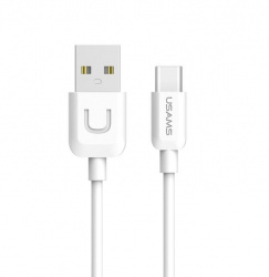 Кабель Usams U-Turn USB - USB Type-C 1 метр белого цвета