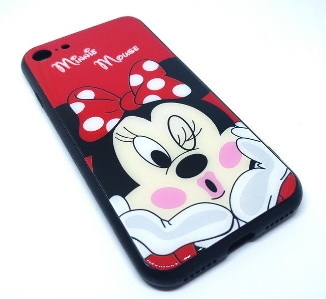 Чехол для Apple iPhone 7/8 TPU + Glass Minnie Mouse