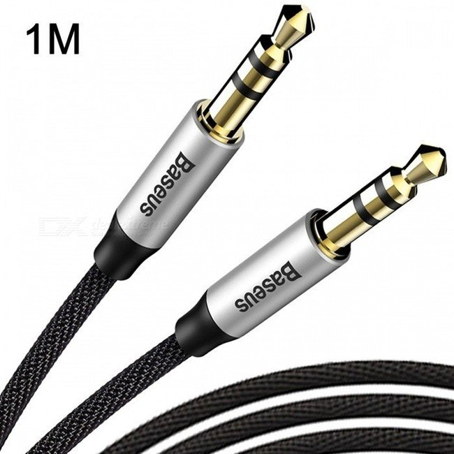 Кабель Baseus Yiven Audio Cable M30 100см черный
